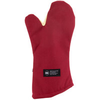 San Jamar KT0218 Cool Touch Flame™ 17 inch Oven Mitt with Kevlar® and Nomex®