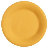 GET WP-9-TY Diamond Mardi Gras 9 inch Tropical Yellow Wide Rim Round Melamine Plate - 24 / Case