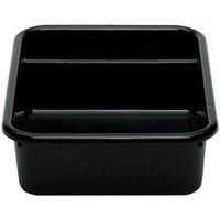 Cambro 1621CBP110 Cambox 21 inch x 16 inch x 5 inch Black Polyethylene Plastic Bus Box