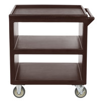 Cambro BC230131 Dark Brown Three Shelf Service Cart - 33 1/4 inch x 20 inch x 34 5/8 inch