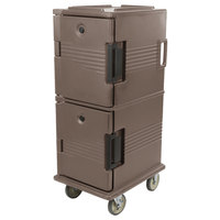 Cambro UPC800194 Ultra Camcarts® Granite Sand Insulated Food Pan Carrier - Holds 12 Pans