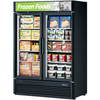 Turbo Air TGF-47SDB Black 51 inch Super Deluxe Glass Door Merchandising Freezer