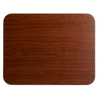 Lancaster Table & Seating 24 inch x 30 inch Laminated Rectangular Table Top Reversible Walnut / Oak