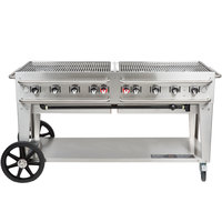 Crown Verity RCB-60-SI-LP 60 inch Outdoor Rental Grill with Single Gas Connection