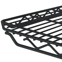 Metro 1836Q-DBM qwikSLOT Black Matte Wire Shelf - 18 inch x 36 inch