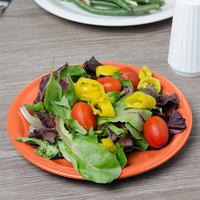 Carlisle 3300652 Sierrus 7 1/4 inch Sunset Orange Narrow Rim Melamine Salad Plate - 48/Case