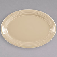 Fiesta Tableware from Steelite International HL458330 Ivory 13 5/8 inch x 9 1/2 inch Oval Large China Platter - 12/Case