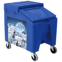 IRP 5075 Blue Ice Caddy II 140 lb. Mobile Ice Bin / Beverage Merchandiser