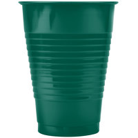 Creative Converting 28312471 12 oz. Hunter Green Plastic Cup - 20/Pack