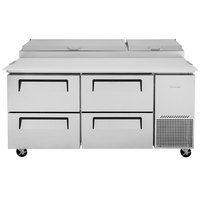 Turbo Air TPR-67SD-D4 67 inch 4 Drawer Pizza Prep Table
