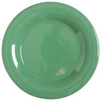 GET WP-10-FG Diamond Mardi Gras 10 1/2 inch Rainforest Green Wide Rim Round Melamine Plate - 12 / Case