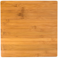 American Metalcraft BAM141 Square Bamboo Platter - 14 3/8 inch x 14 3/8 inch