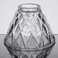 Sterno Products 85442 Table Lamp Glass Diamond Cut Clear Shade