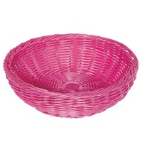 GET WB-1512-PI 11 1/2 inch x 3 1/2 inch Designer Polyweave Pink Round Basket - 12/Case