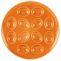 Homer Laughlin 724325 Fiesta Tangerine 11 1/4 inch Egg Tray - 4/Case