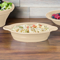 Homer Laughlin 587330 Fiesta Ivory 17 oz. Oval Baker - 4/Case