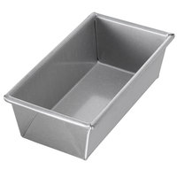 Chicago Metallic 41065 3/4 lb. Single Open Top Glazed Bread Pan - 8 inch x 4 inch x 2 1/2 inch