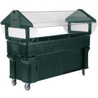 Carlisle 661108 Forest Green 6' Six Star Portable Food / Salad Bar with Storage Base