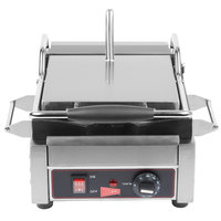 Cecilware SG1SF Single Panini Sandwich Grill with Flat Grill Surfaces - 9 5/8 inch x 9 inch Cooking Surface - 120V, 1800W