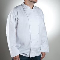 Chef Revival J015-XL Chef-Tex Size 48 (XL) White Customizable Cuisinier Chef Jacket