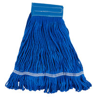 Small 16 Oz. Microfiber String Mop Head with Blue 6 inch Band
