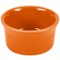 Homer Laughlin 568325 Fiesta Tangerine 8 oz. Ramekin - 6/Case