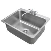 Advance Tabco DI-1-2812 Drop In Stainless Steel Sink - 28 inch x 20 inch x 12 inch Bowl