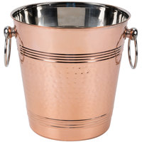 American Metalcraft WB8C 5.25 Qt. Hammered Copper Wine Bucket