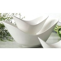 CAC SHER-77 Sheer 7 1/2 inch Bone White Porcelain Spirit Dish - 24/Case