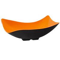GET ML-220-OR/BK Brasilia 4 Qt. Orange and Black Flare Melamine Bowl - 3/Case