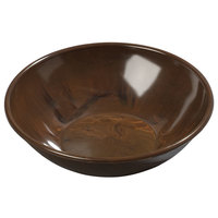 Carlisle 706011 Walnut Woodgrain 13.5 oz. Salad Bowl - 72/Case