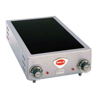 Wells HC-225 14 3/4 inch Electric Countertop Ceramic Two Burner Hot Plate - 5000W