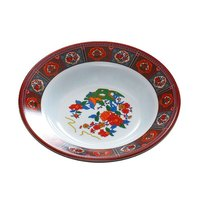 Thunder Group 1106TP Peacock 3 oz. Round Melamine Soup Plate - 12/Pack