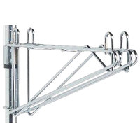 Metro 2WS14S Post-Type Wall Mount Shelf Support for Adjoining Super Erecta Stainless Steel 14 inch Deep Wire Shelving