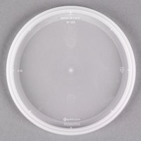 Pactiv/Newspring YNL500 4 9/16 inch DELItainer Translucent Round Deli Container Lid - 480/Case