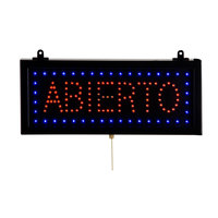 Aarco ABI08S Rectangular Abierto Open LED Sign