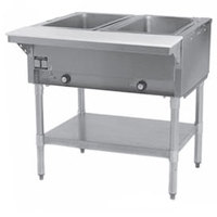 Eagle Group SHT2 Steam Table - Two Pan - Sealed Well, 120V