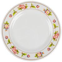 GET M-5080-TR Tea Rose 9 1/2 inch Round Melamine Plate - 12/Pack