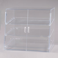 Cal-Mil P254SS Three Tier Slanted Front Acrylic Display Case - 26 1/2 inch x 22 1/2 inch x 23 1/2 inch