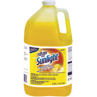Diversey 95729360 Sunlight 1 gallon / 128 oz. Lemon Liquid Dish Soap - 4/Case