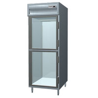 Delfield SSR1-GH Stainless Steel 25 Cu. Ft. One Section Glass Half Door Reach In Refrigerator - Specification Line