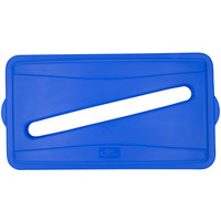 Continental 7317BL Blue Wall Hugger Recycle Lid with Slot