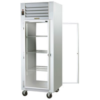 Traulsen G16014P Solid Front, Glass Back Door 1 Section Pass-Through Refrigerator - Left / Left Hinged Doors