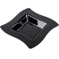 Fineline Wavetrends 112-BK Black Plastic Bowl 12 oz. - 10/Pack