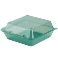 GET EC-02 9 inch x 9 inch x 3 1/2 inch Jade Green Customizable Reusable Eco-Takeouts Container - 12/Pack