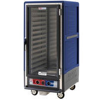 Metro C537-MFC-L-BU C5 3 Series Heated Holding and Proofing Cabinet with Clear Door - Blue