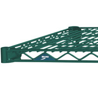 Metro 1424N-DHG Super Erecta Hunter Green Wire Shelf - 14 inch x 24 inch