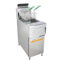 Frymaster MJ150 Natural Gas Floor Fryer 40-50 lb. - 122,000 BTU