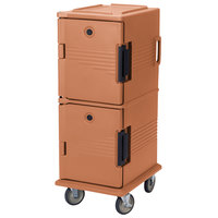 Cambro UPC800SP157 Coffee Beige Camcart Ultra Pan Carrier - Front Load Tamper Resistant