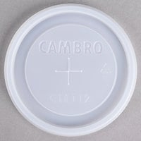 Cambro CLLT12 Disposable Translucent Lid with Straw Slot for Cambro LT12 12 oz. Laguna tumbler, NT14 14 oz. Newport tumbler, and D16 16 oz. Del Mar tumbler - 1000/Case